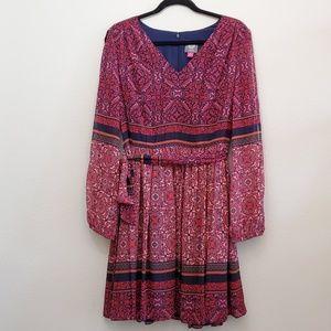 Vince Camuto - Split Sleeve Printed Dress